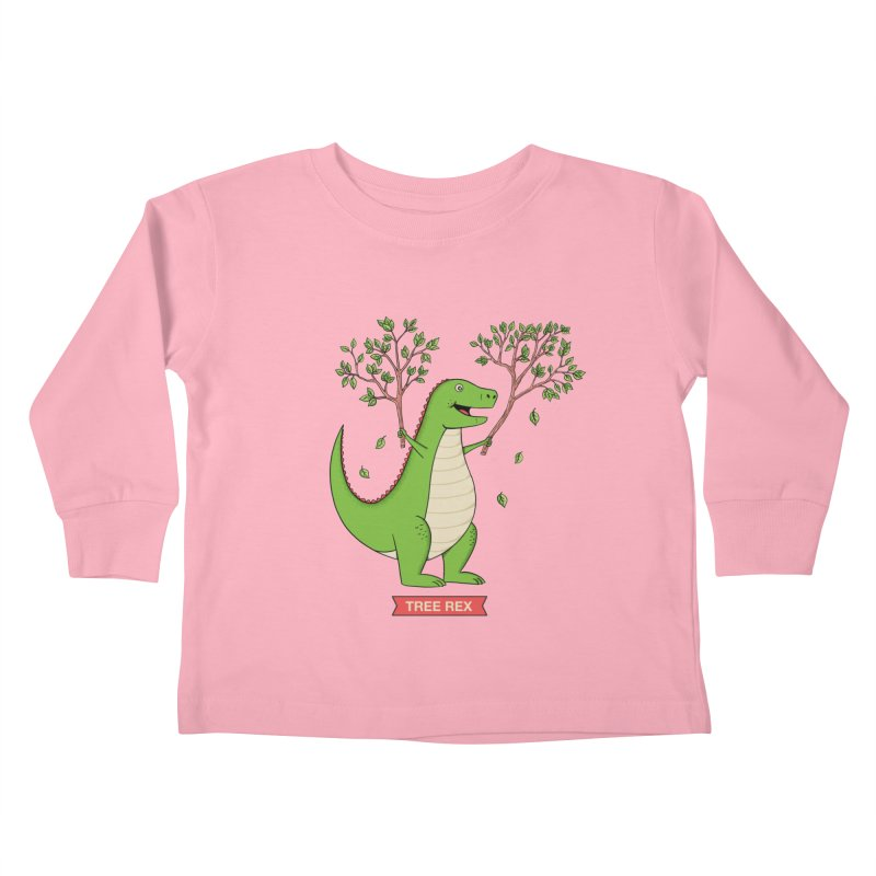Tree Rex Kids Toddler Longsleeve T-Shirt by coffeeman's Artist Shop