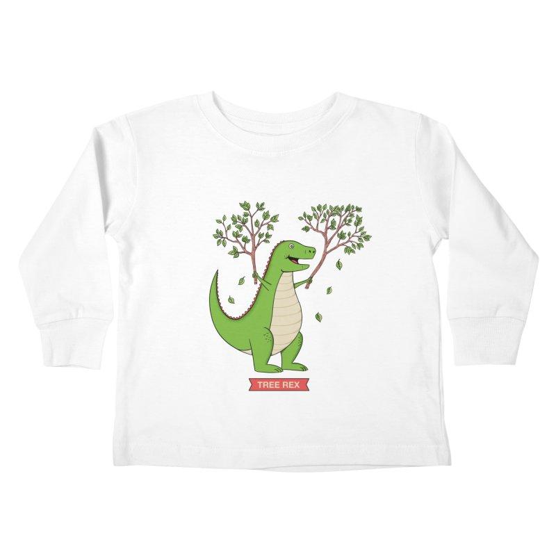 Tree Rex Kids Toddler Longsleeve T-Shirt by coffeeman's Artist Shop