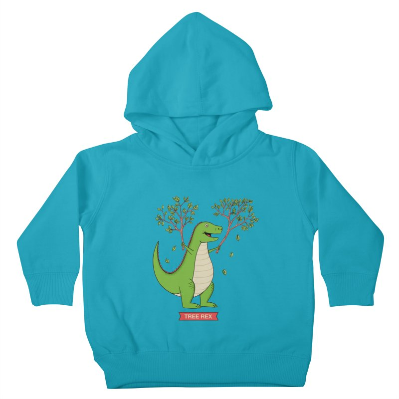 Tree Rex Kids Toddler Pullover Hoody by coffeeman's Artist Shop