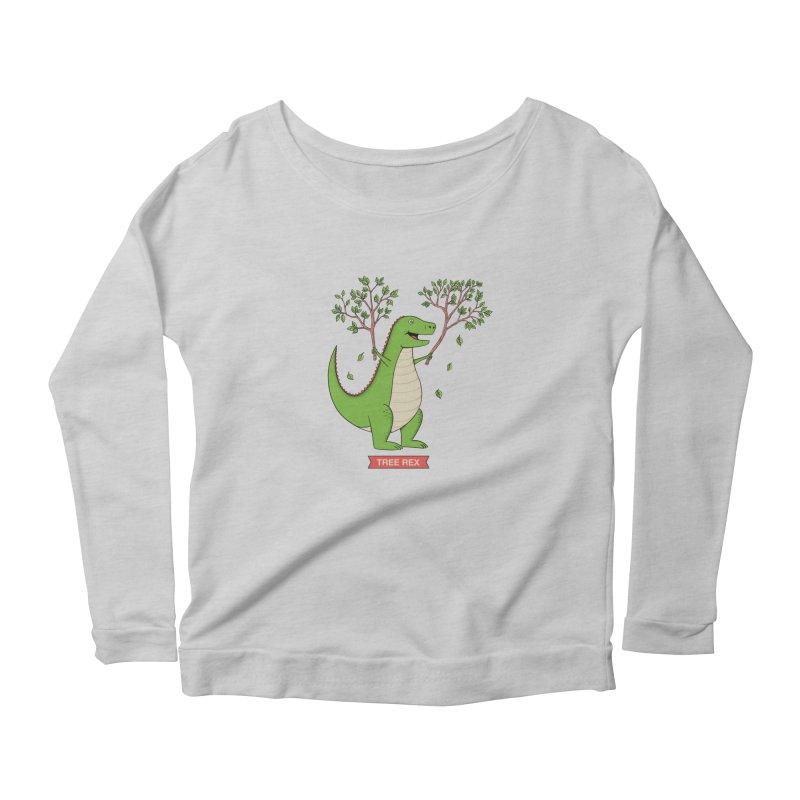 Tree Rex Women's Longsleeve T-Shirt by coffeeman's Artist Shop