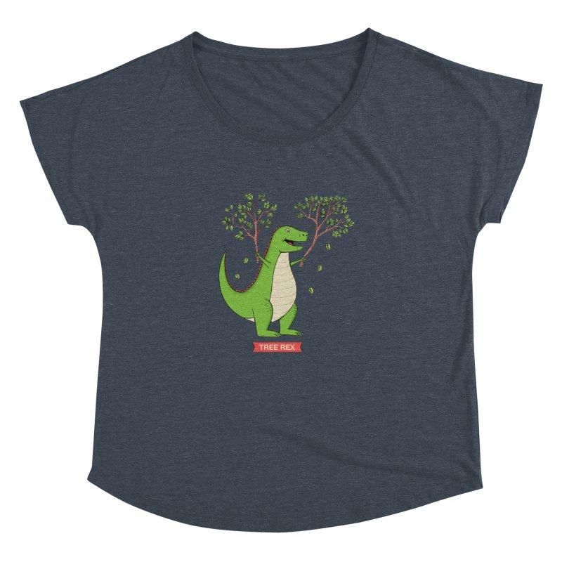 Tree Rex Women's Dolman Scoop Neck by coffeeman's Artist Shop