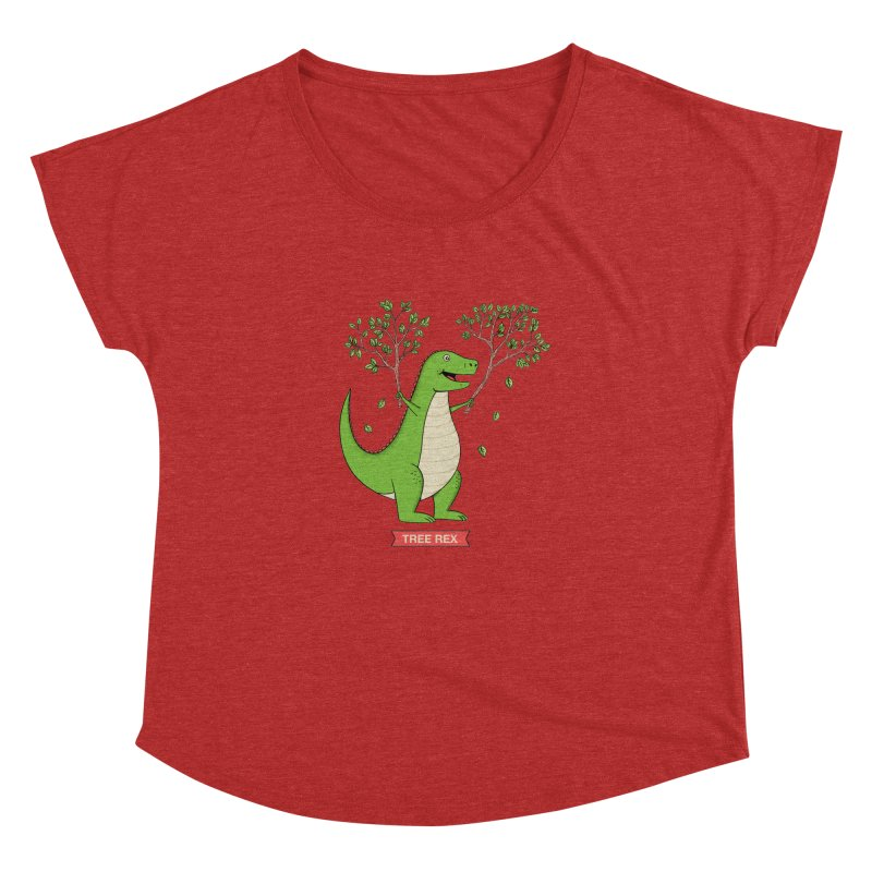 Tree Rex Women's Dolman Scoop Neck by coffeeman's Artist Shop