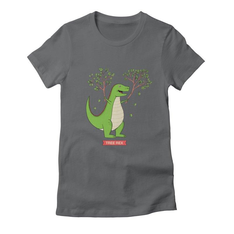 Tree Rex Women's Fitted T-Shirt by coffeeman's Artist Shop