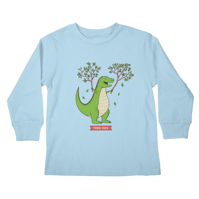 Tree Rex Kids Longsleeve T-Shirt by coffeeman's Artist Shop