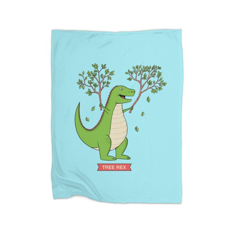 Tree Rex Home Fleece Blanket Blanket by coffeeman's Artist Shop