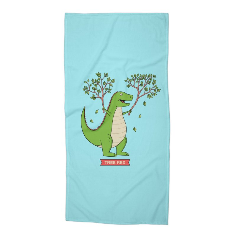 Tree Rex Accessories Beach Towel by coffeeman's Artist Shop