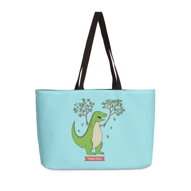 Tree Rex Accessories Weekender Bag Bag by coffeeman's Artist Shop