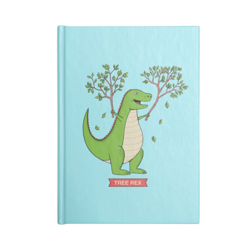 Tree Rex Accessories Lined Journal Notebook by coffeeman's Artist Shop