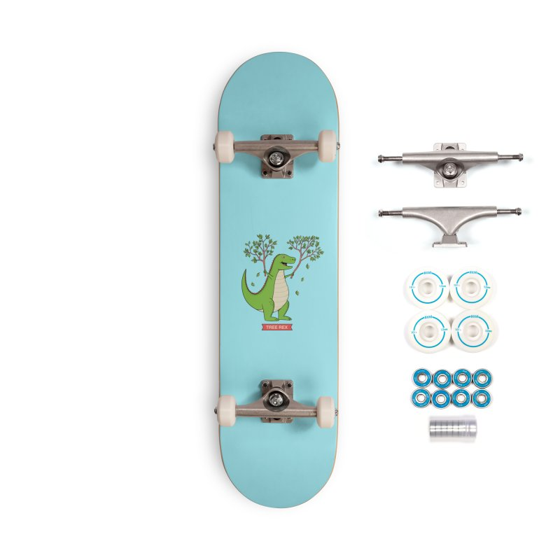 Tree Rex Accessories Complete - Basic Skateboard by coffeeman's Artist Shop