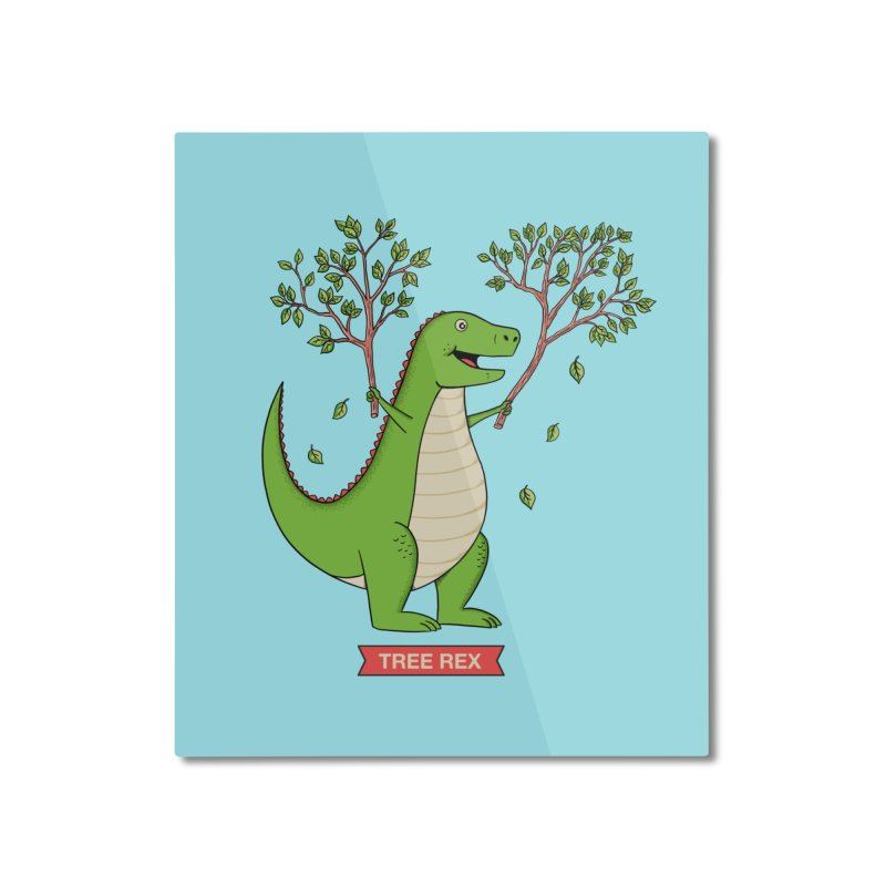 Tree Rex Home Mounted Aluminum Print by coffeeman's Artist Shop