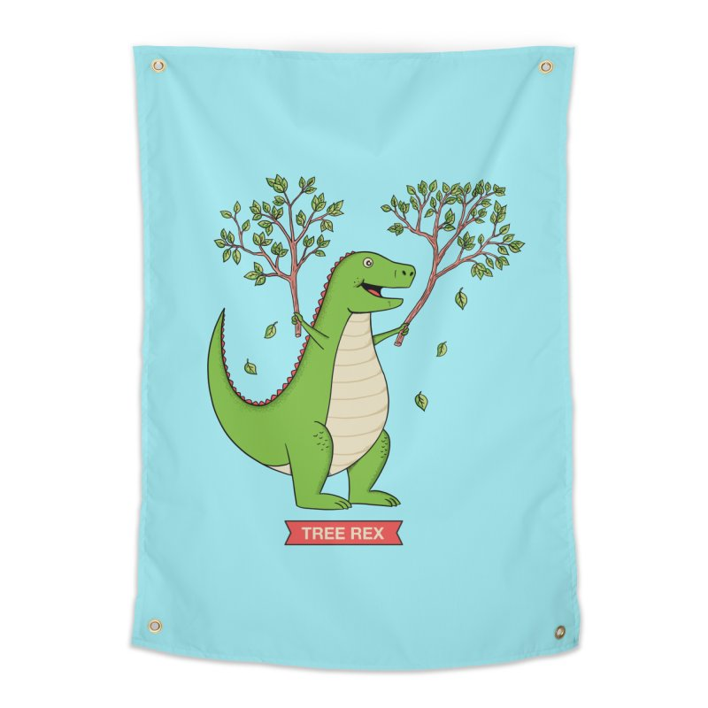 Tree Rex Home Tapestry by coffeeman's Artist Shop