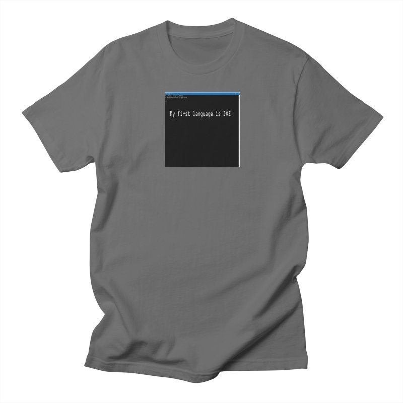 My first language is DOS Men's T-Shirt by coffeemusicreading's Artist Shop