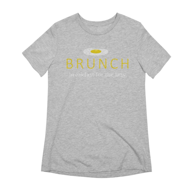Brunch Breakfast for the Lazy Women's Extra Soft T-Shirt by Coffee Pine Studio