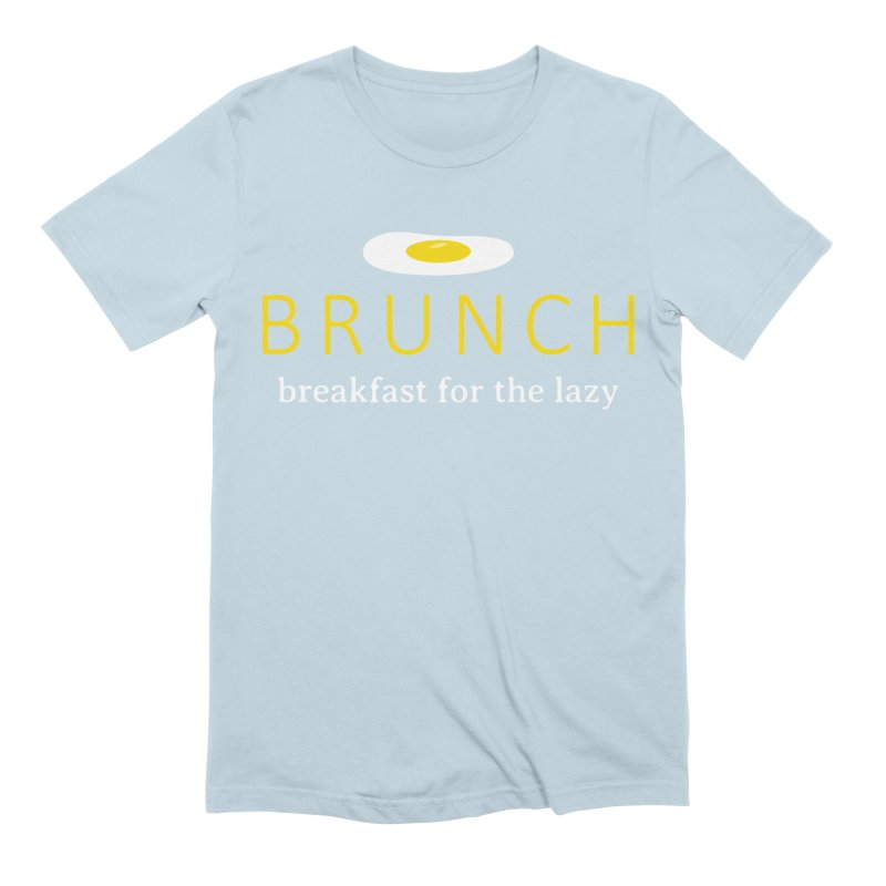 Brunch Breakfast for the Lazy Men's Extra Soft T-Shirt by Coffee Pine Studio