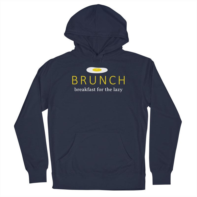 Brunch Breakfast for the Lazy in Men's French Terry Pullover Hoody Navy by Coffee Pine Studio