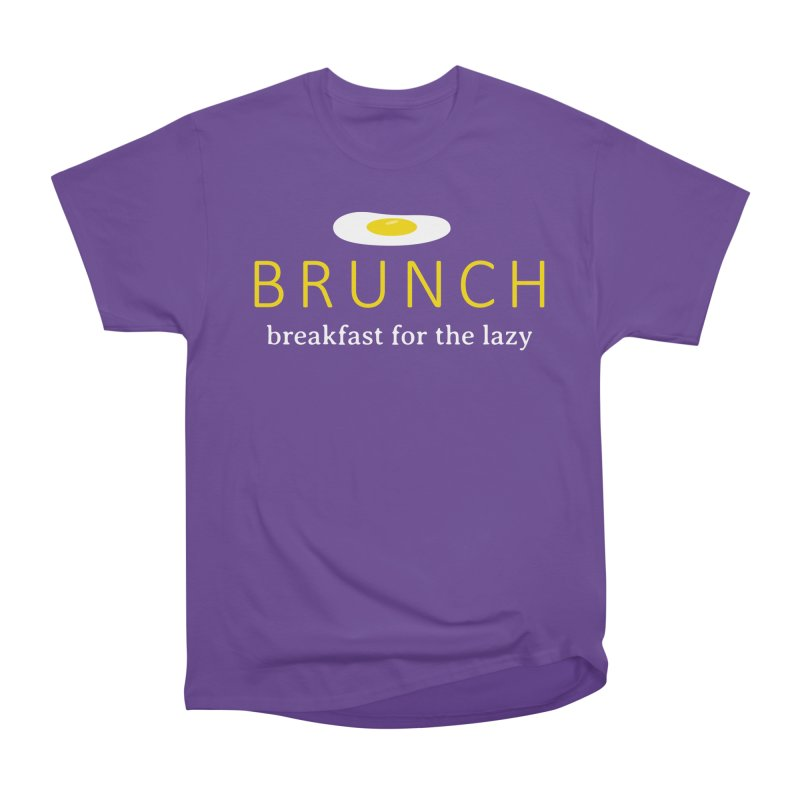 Brunch Breakfast for the Lazy Women's Heavyweight Unisex T-Shirt by Coffee Pine Studio