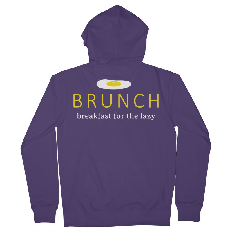 Brunch Breakfast for the Lazy Women's French Terry Zip-Up Hoody by Coffee Pine Studio