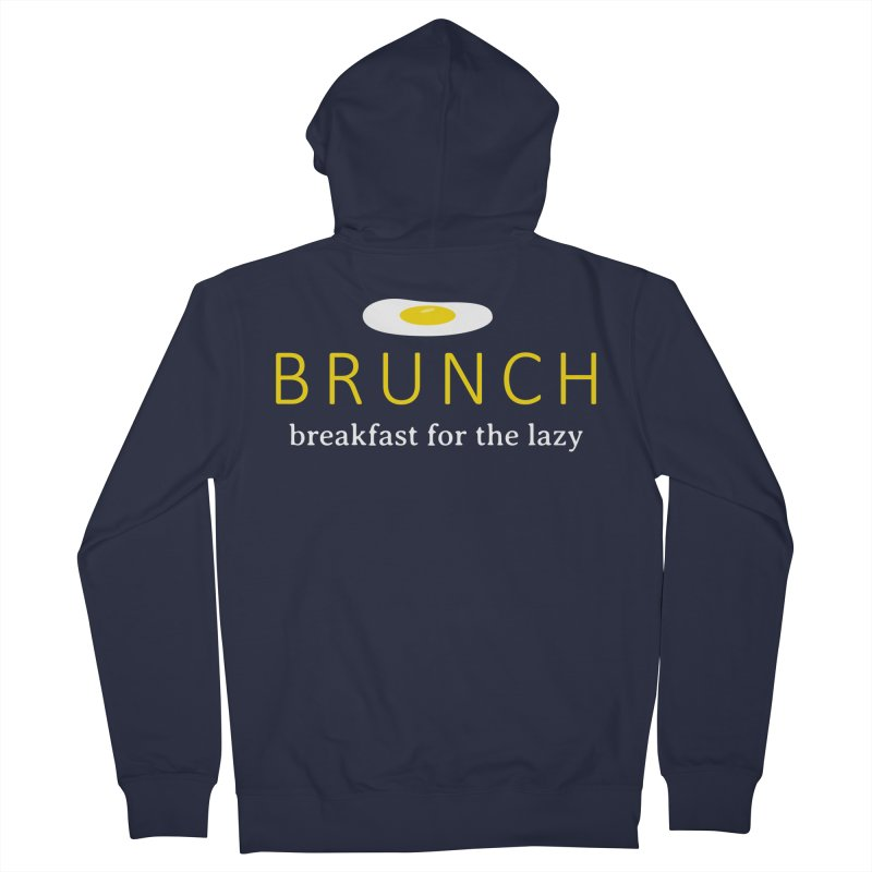 Brunch Breakfast for the Lazy Men's French Terry Zip-Up Hoody by Coffee Pine Studio