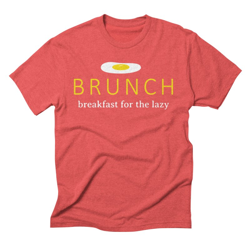 Brunch Breakfast for the Lazy Men's Triblend T-Shirt by Coffee Pine Studio