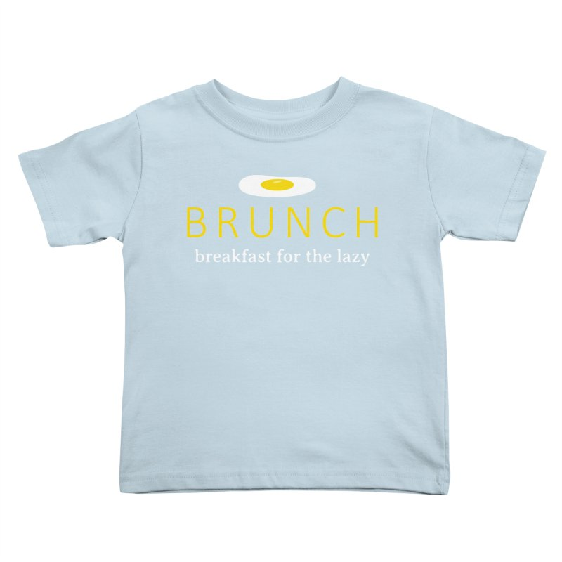 Brunch Breakfast for the Lazy Kids Toddler T-Shirt by Coffee Pine Studio