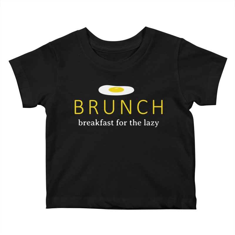Brunch Breakfast for the Lazy Kids Baby T-Shirt by Coffee Pine Studio
