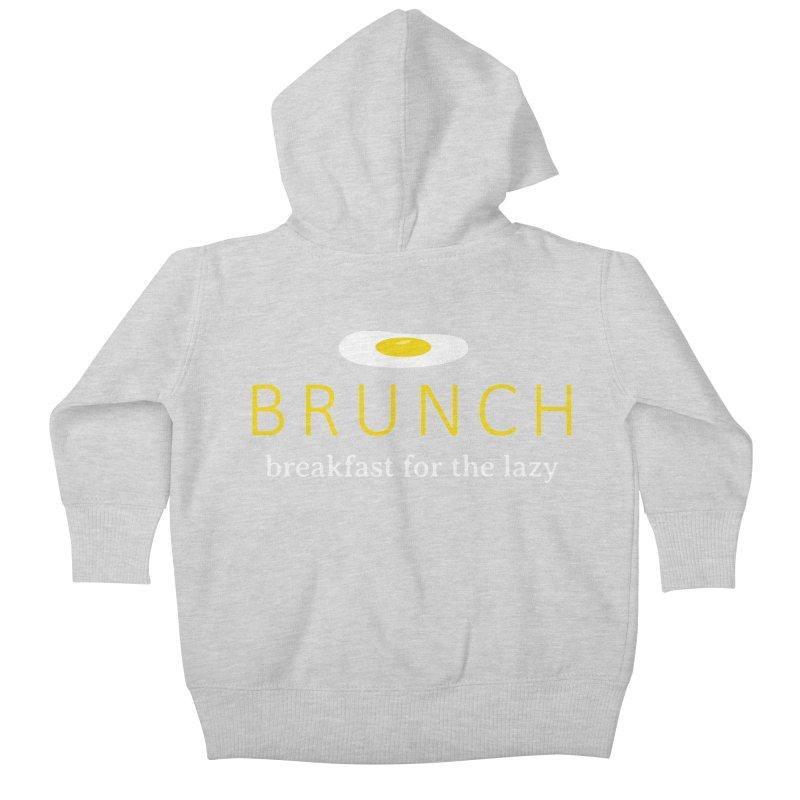 Brunch Breakfast for the Lazy Kids Baby Zip-Up Hoody by Coffee Pine Studio