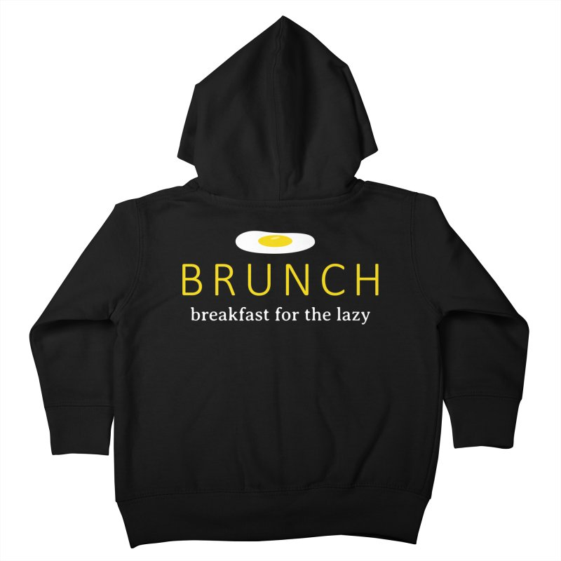 Brunch Breakfast for the Lazy Kids Toddler Zip-Up Hoody by Coffee Pine Studio