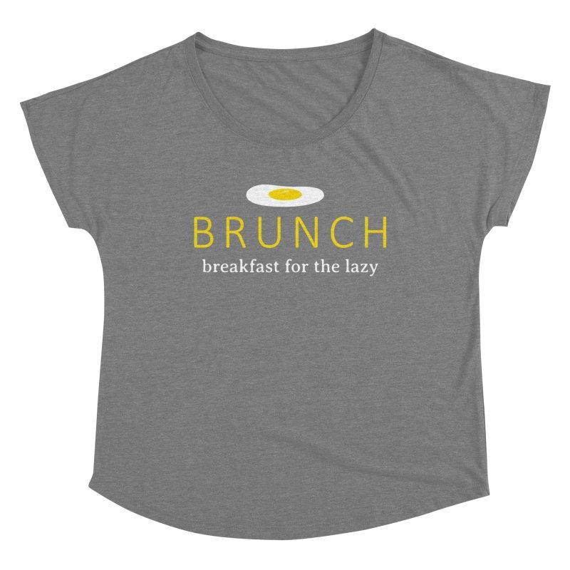 Brunch Breakfast for the Lazy Women's Scoop Neck by Coffee Pine Studio