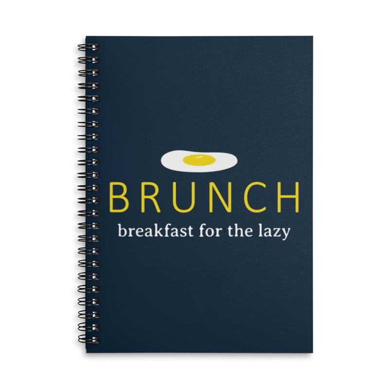 Brunch Breakfast for the Lazy Accessories Lined Spiral Notebook by Coffee Pine Studio