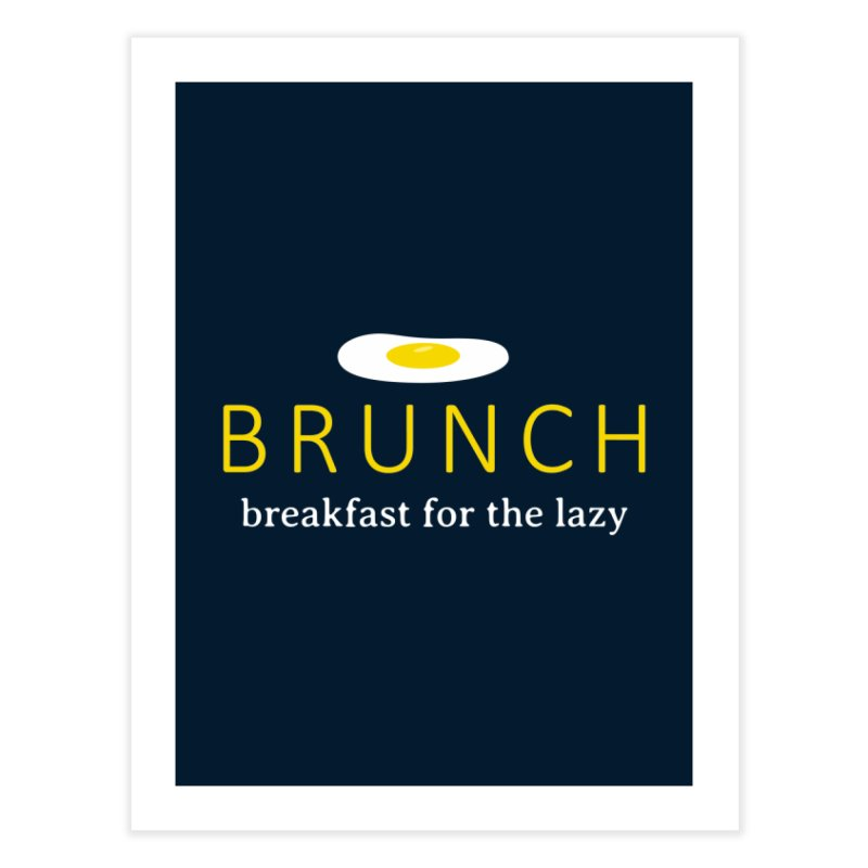 Brunch Breakfast for the Lazy Home Fine Art Print by Coffee Pine Studio