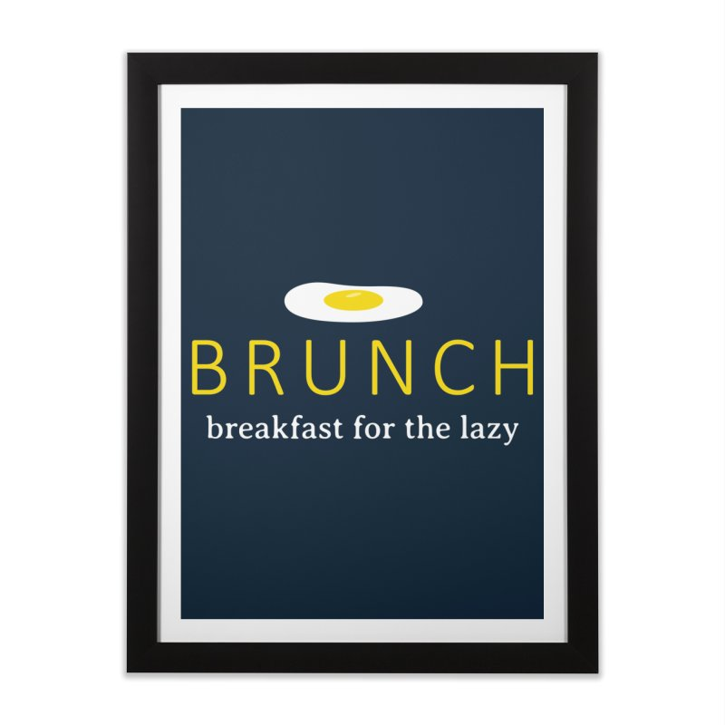 Brunch Breakfast for the Lazy Home Framed Fine Art Print by Coffee Pine Studio