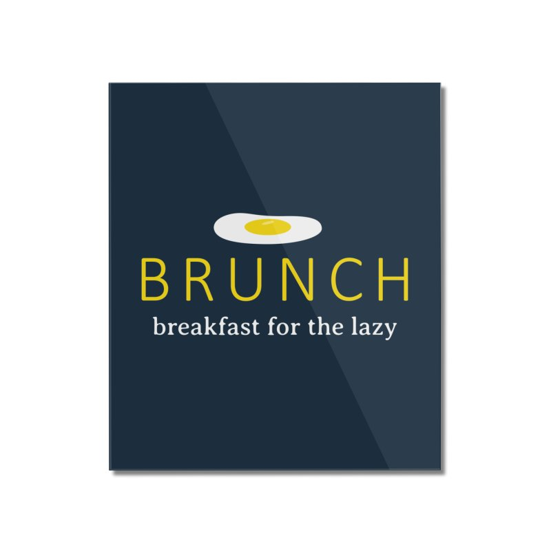 Brunch Breakfast for the Lazy Home Mounted Acrylic Print by Coffee Pine Studio