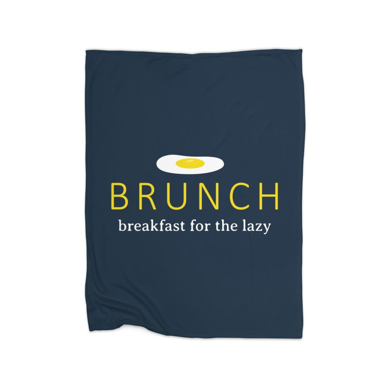Brunch Breakfast for the Lazy Home Blanket by Coffee Pine Studio