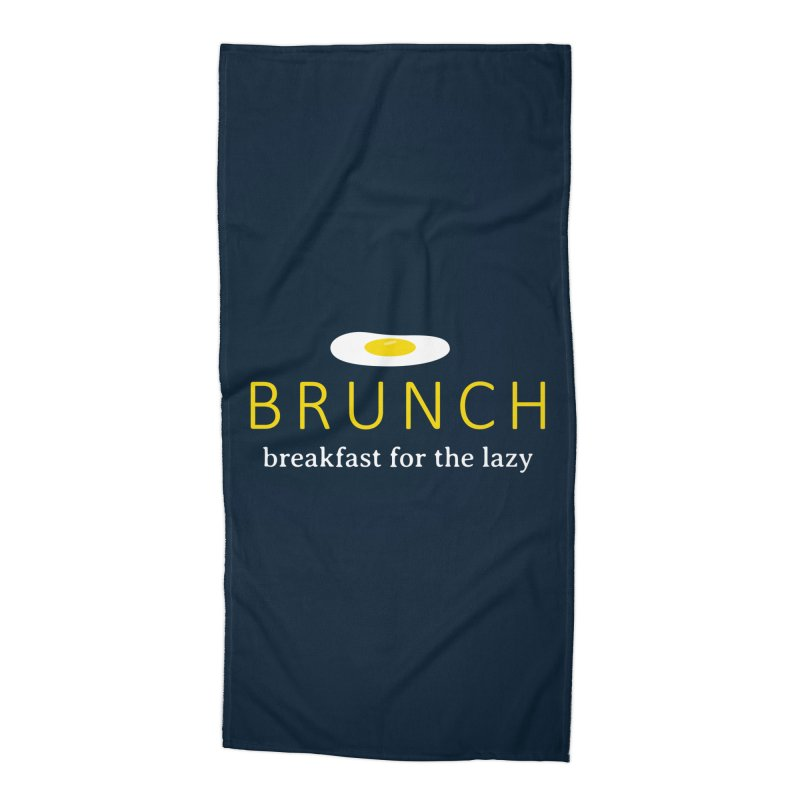 Brunch Breakfast for the Lazy Accessories Beach Towel by Coffee Pine Studio