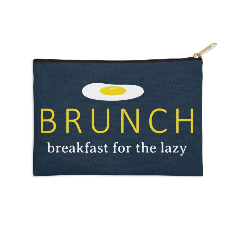 Brunch Breakfast for the Lazy Accessories Zip Pouch by Coffee Pine Studio