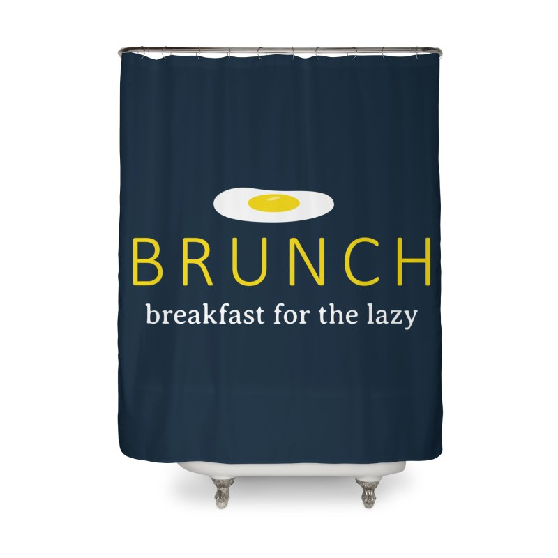 Brunch Breakfast for the Lazy Home Shower Curtain by Coffee Pine Studio