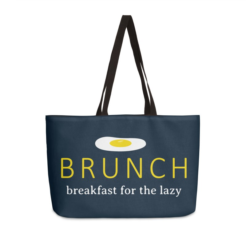 Brunch Breakfast for the Lazy Accessories Weekender Bag Bag by Coffee Pine Studio