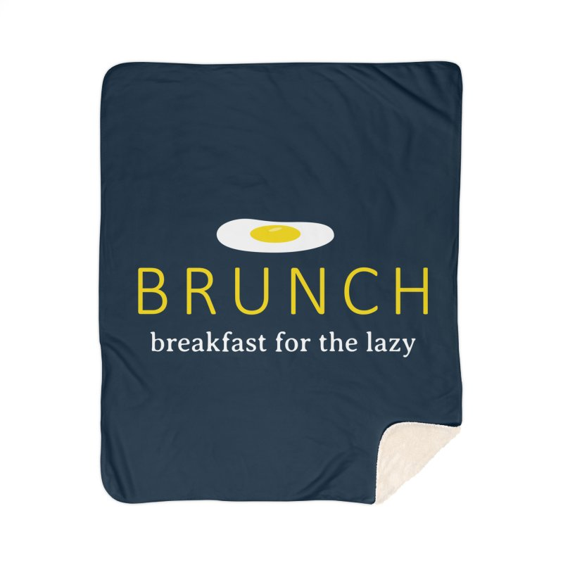 Brunch Breakfast for the Lazy Home Sherpa Blanket Blanket by Coffee Pine Studio
