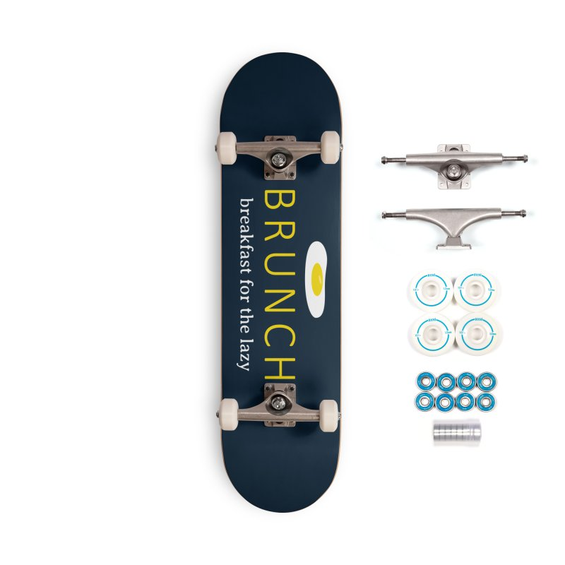 Brunch Breakfast for the Lazy Accessories Skateboard by Coffee Pine Studio