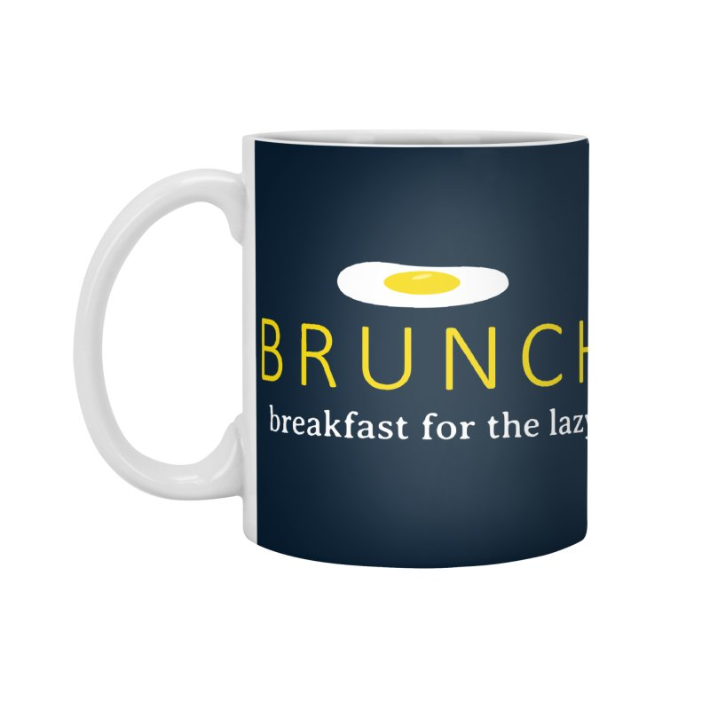 Brunch Breakfast for the Lazy Accessories Standard Mug by Coffee Pine Studio