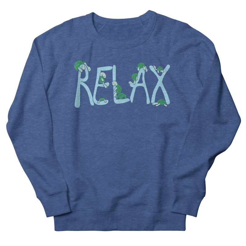 Relax Women's French Terry Sweatshirt by Coffee Pine Studio