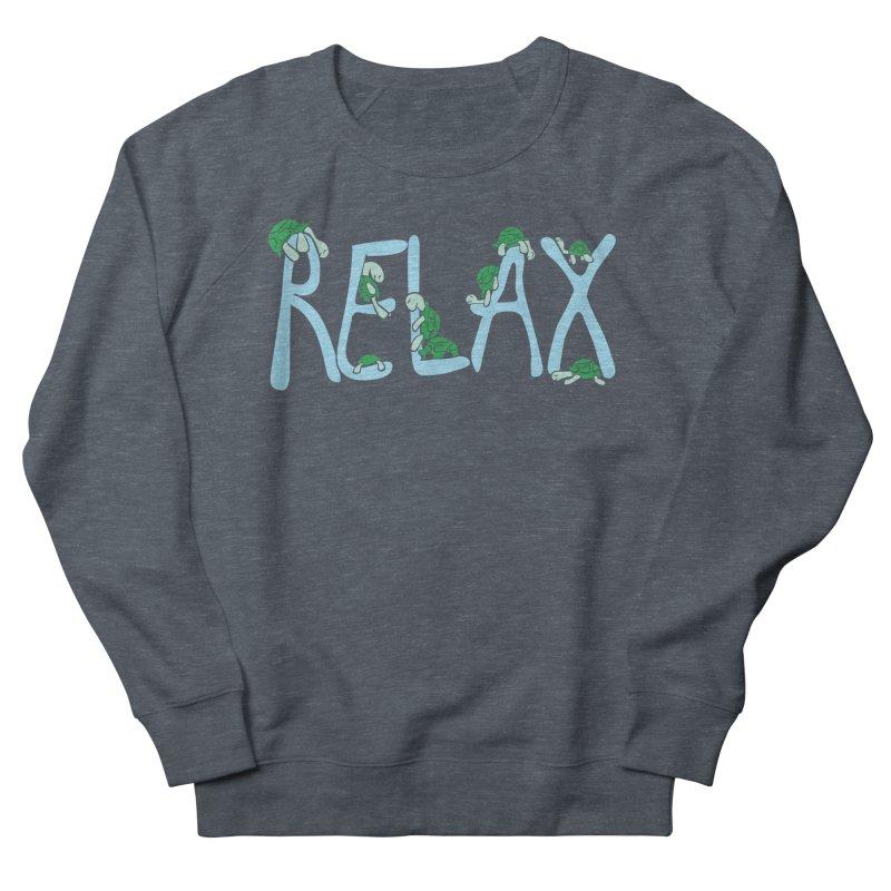 Relax Men's French Terry Sweatshirt by Coffee Pine Studio