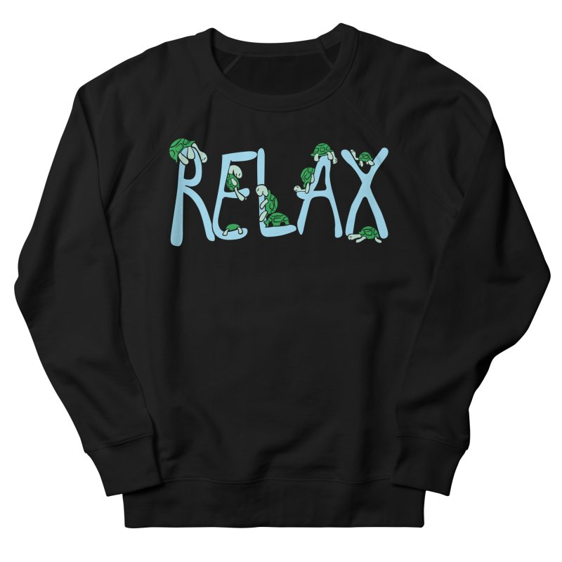 Relax Men's French Terry Sweatshirt by Coffee Pine Studio