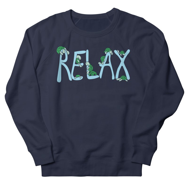 Relax in Men's French Terry Sweatshirt Navy by Coffee Pine Studio