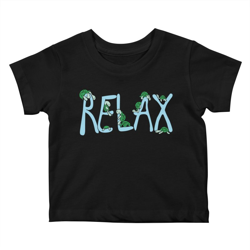 Relax Kids Baby T-Shirt by Coffee Pine Studio