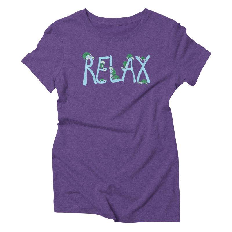 Relax Women's Triblend T-Shirt by Coffee Pine Studio