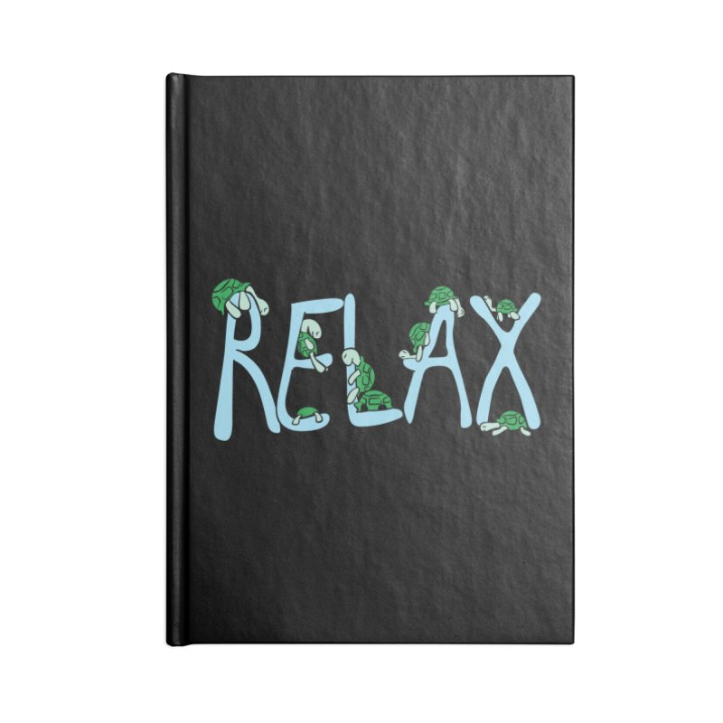 Relax Accessories Lined Journal Notebook by Coffee Pine Studio