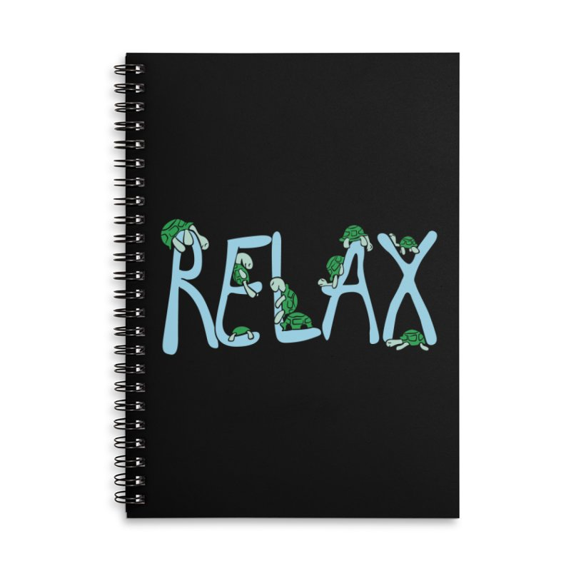 Relax Accessories Lined Spiral Notebook by Coffee Pine Studio