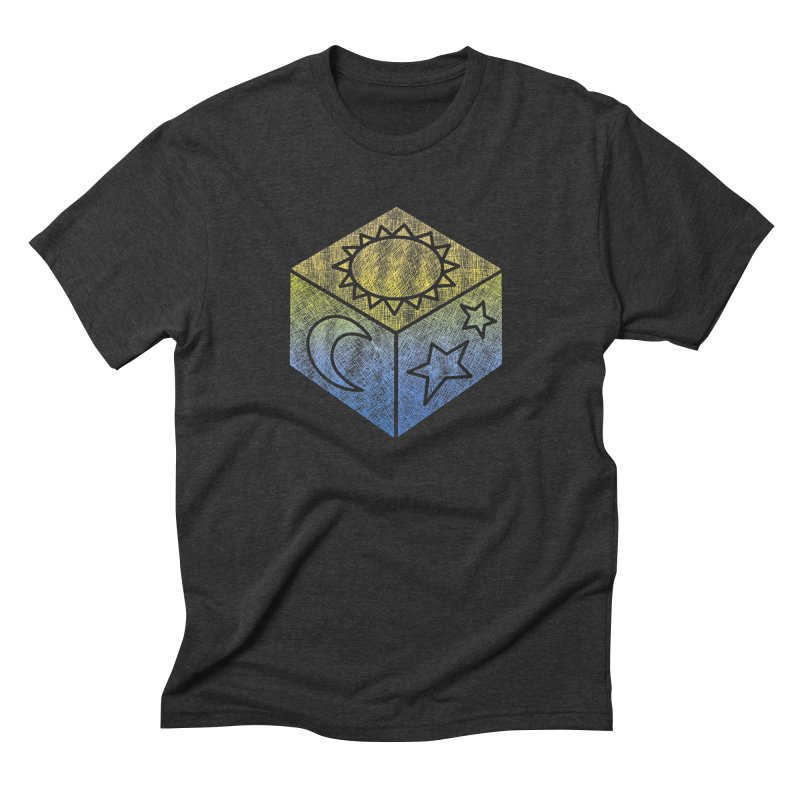 Sun Moon & Stars Men's Triblend T-Shirt by Coffee Pine Studio