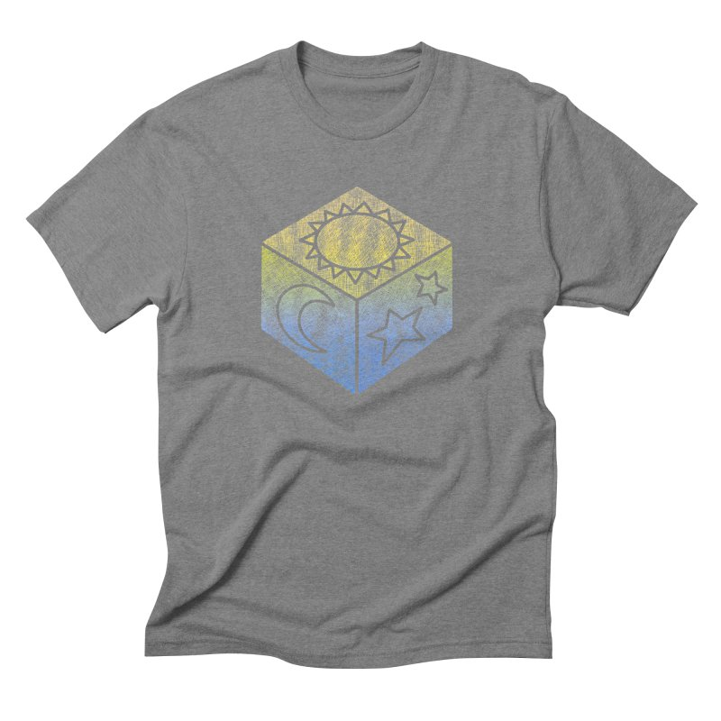 Sun Moon & Stars Men's Triblend T-Shirt by Coffee Pine Studio